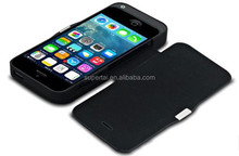 2015 Innovative design leather power case for iPhone5, 2 in 1 cover battery charger 4200mah OEM