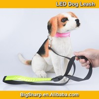 50pcs Wholesale Ultra Bright LED Lighting Pet Leash Reflective Glowing Nylon Dog Leash DL2505