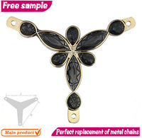 Appealing metal chain flowers accessory for shoe