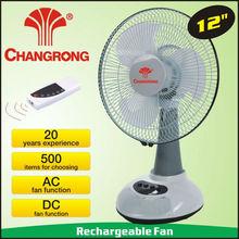 12inch table fan desk fan stand fan with led lights CR-6312R
