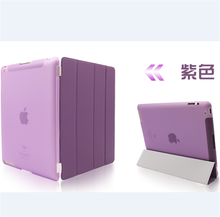 For ipad 2 3 4 Ultra Thin Full Protect Magnetic Smart Stand Front Leather Cover Hard Back Case