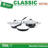 Ceramic coated cokware set with branded non stick coating