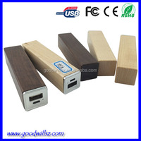 Power supply wooden portable mobile phone charger,2600mah power bank for mobiles phone