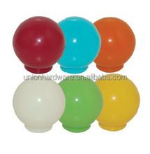 Colourful round shape plastic knob