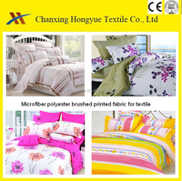 150D Yarn Polyester fabric micro fiber peach skin print bed sheet fabric from China Suppliers