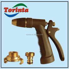 With quick coupling garden water gun for irrigation metalwater spray gun