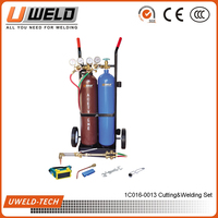 Gas cutting Torch Welding Kit oxygen/acetylene cylinders