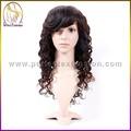 comprar productos chinos sin procesar baratos para el cabello humano virgen pelucas con flequillo