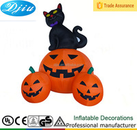 Halloween Airblown Inflatable 3 PUMPKIN CAT NEW Yard Decor Lights UP