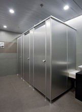 Stainless steel toilet cubicle