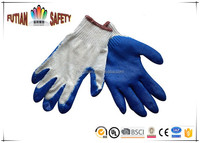 FTSAFETY 10Gauge economy cotton shell palm latex coated working gloves cutting resistant anti-slip