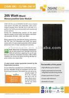 Znshine Black Mono-crystaline Solar Panel/PV Module Mono 180W 185W 190W 195W 200W 205W