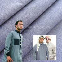 65% Polyester 35% Cotton poplin 133x72 Muslim White Long Pants