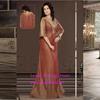Hot Sale Muslim Abaya Kaftan Half Sleeve With Beaded Long Evening Gown Arabic Abaya Chiffon Dress for Women