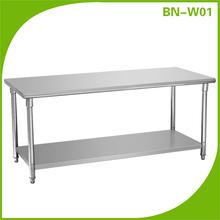 comercial de cocina de acero inoxidable mesa de trabajo