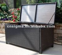 2014 Hot sale rattan large outdoor extra large plastic storage boxes with lids