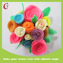 The color is not sticky super Best gift for children's Day most popular flowers made of clay