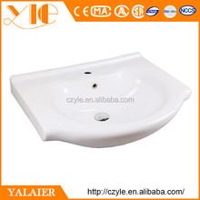 Low price 650*490*210 ceramic hair washing bowl sink cabinet