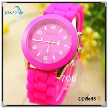 Alibaba hottest fast delivery time 15 colors geneva brand sport watch silicone