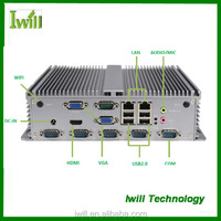 Iwill Celeron 1037U mini itx embedded fanless industrial pc system