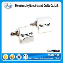 custom design stainless cufflinks initials