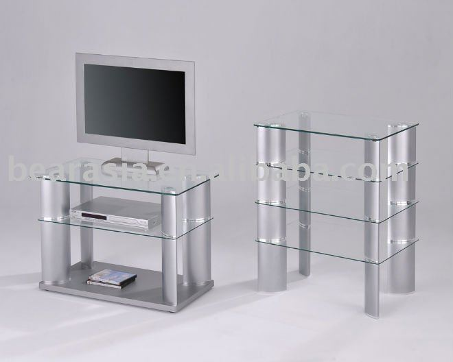 meuble tv verre trempé – Artzeincom -> Petit Meuble Tv Verre