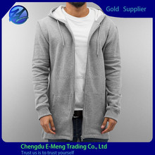 High Quality New Design Blank Top Fashion Tall Hoodie in Gray