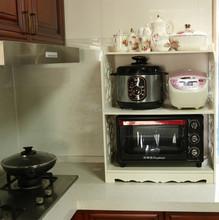 Venta al por mayor talló estante de exhibición para microondas parrilla del horno