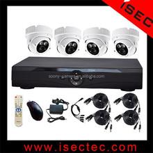 H.264 Waterproof Home Security 4Ch Cctv Dvr Kit