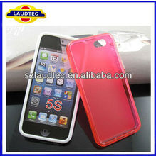 Laudtec 2013 New Products Shinny Side Tpu Gel Soft Phone Case Cover for iphone 5s