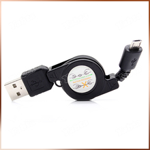For Iphone 5 6 Latest IOS8 Black Retractable USB Cable 80CM Max