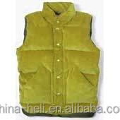 Corduroy winter padding vest