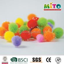 10mm Glitter Festive Decoration Pom Poms for Craft Gift