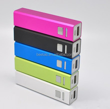 slim portable small size mobile phone power bank with led light