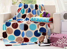 colourful Circle printing coral fleece mora blanket in spain blanket