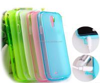 Matte Frosted Pudding Transparent Soft TPU Gel Case For Samsung Galaxy S5 i9600/S4 i9500/S3 i9300/S5 mini/S4 mini/S3 mini