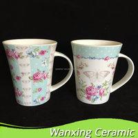 2015 Drink Hot Water Safe Wholesale Custom Promotional Aztec Spooner Mug,Coffee Cup Sets,Ceramic Coffee Mug With Spoon