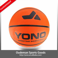 2015 HOT SALE YONO Official Size Training Basketball Rubber Basketball