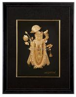 Direct factory supply 3D Craft Art Indian God 24K gold foil frame for decration or collection