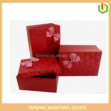 Fashion classics red corrugated cardboard gift boxes