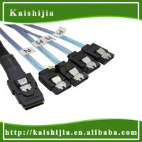 High quality Mini SAS SFF-8087 4i 36P to 4X SATA Reverse Cable with Latch - 1.0 Meter