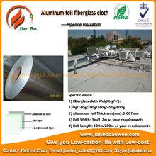 Reflexivo Aislamiento Térmico papel de aluminio paño de fibra de vidrio