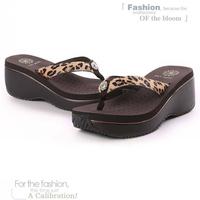 2014 ultra high heels new arrival sandals beach slippers flip flops platform women's wedges platform elevator sandals ST00046 b