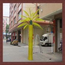 2014 new product artificial plant Metal pipe tree palm/coconut palm tree for outdoor lighting