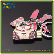 New Products fashion jewelry bag shape USB flash drive / pen drive