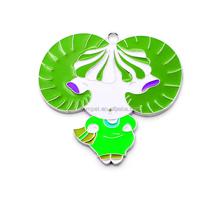Cartoon Sheep Metal Key Chain Hanging Charms Sheep Creative Enamel Pendant
