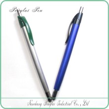 2015 fashion style slim plastic metal click touch ball pen