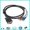 Cheap price hd 15 pin vga to 3 rca vga cables