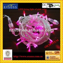 LED Twinkle light of pink -color LED twinkle light with basketball on the top of the bulb, with high qualtiy ,decorate on Christ