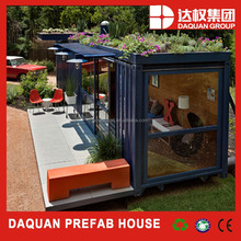 Daquan prefabricated 20ft shipping container houses for food cafeteria